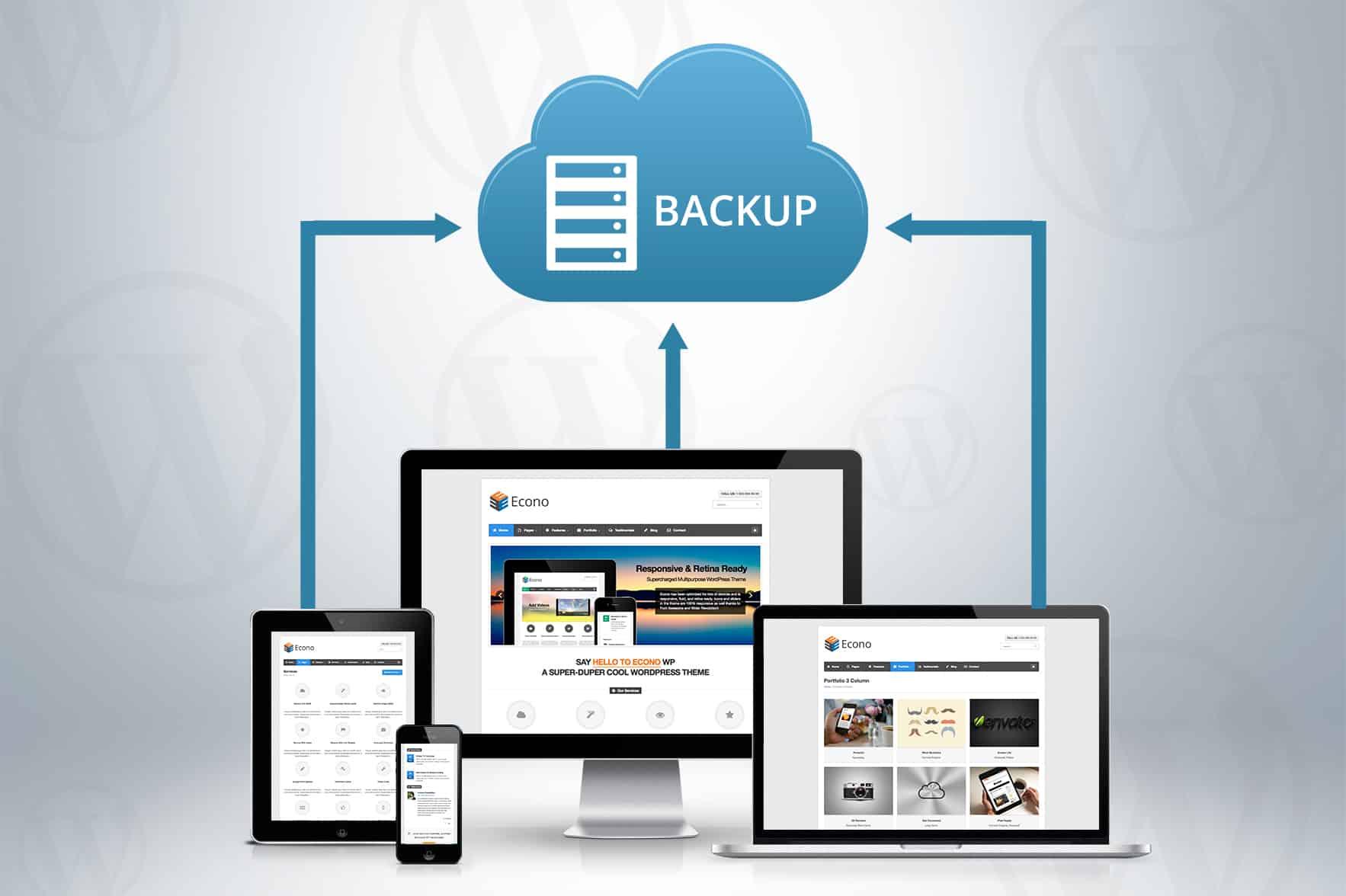 back up your wordpress website